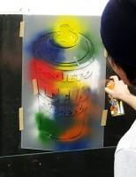Aprendendo grafite na escola