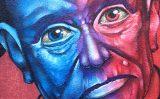 Muro da Secretaria do Idoso grafitado: elogio e crítica